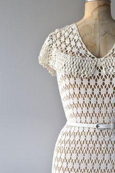 Forever Fair crochet dress 1930s knit dress cotton от DearGolden