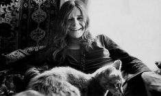 Janis Joplin is listed (or ranked) 13 on the list Cool Old Photos of Celebrities with Their Cats