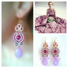 Pendientes soutache diseñados y hechos por La Niña Alhajas #earrings #handmadejewelry