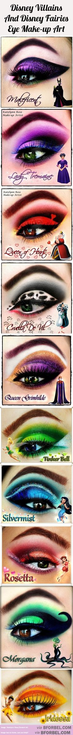 10 Disney Villains And Fairies Inspired Beautiful Eye Makeup…