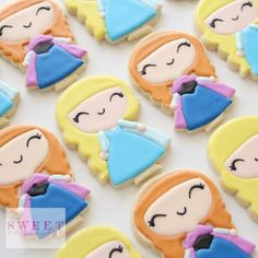 Anna and Elsa Cookies