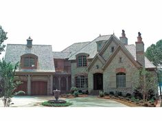 Eplans French Country House Plan - Varied Rooflines -from Eplans - House Plan Code HWEPL05309    Like the styling of the exterior of this home.