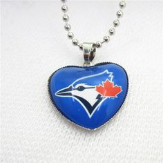 10pcs/lot MLB Team Toronto Blue Jays Necklaces with 45cm Beads Chains Baseball Sports Necklace Jewelry Pendant Charms #Affiliate