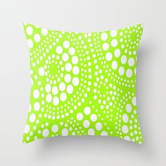 Pattern Chartreuse Throw Pillow (recreate using a bold fabric and a bleach pen)