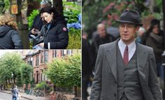TIME TRAVEL: Outlander stars hit Glasgow to film scenes from brand new series  OUTLANDER filming got under way today – as stars Caitriona Balfe and Tobias Menzies were spotted in Glasgow.  Downhill Street in the city's West End, which is thought to be doubling up as Boston in the 1940s, was closed off to shoot scenes from series three.