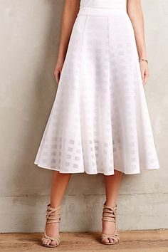 Windowpane Midi Skirt #anthropologie