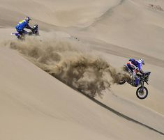 "From Vroom Mag. Dakar 2018 Stage 5 report: ""Struggling Through Quicksand"" Rallye Paris Dakar, Rallye Raid, Wheel In The Sky, Classy Cars, Bike Rider, Bmw Motorcycles, Adventure Tours, Big Trucks, Motocross"