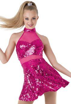 Weissman™   Mesh Inset Sequin Dress
