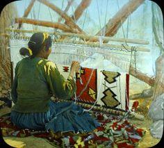 Navajo Weaving, Navajo Rugs, Loom Weaving, American Indian Art, Native American Indians, Native Americans, Cheyenne Indians, Navajo Women, Apache Indian