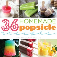 36 Homemade Popsicle Recipes gonna try the lemonade one today with zayn :) can't wait to see how they turn out!