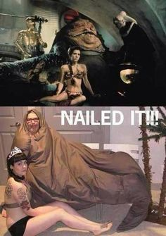 Jabba and Leia: Nailed It