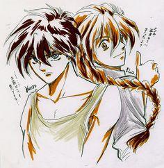 Gundam Wing ~~ Heero Yuy and Duo Maxwell Duo Maxwell, Heero Yuy, Gundam Wing, Gw, Anime Shows, 4 Life, Pilots, Me Me Me Anime, Rocks