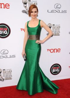 Darby Stanchfield in Carolina Herrera at the NAACP Image Awards.