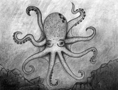 Original artwork created in 2014 entitled Octopus. Depicts an octopus in the ocean. This is an 8x10 drawing that has NOT been matted.