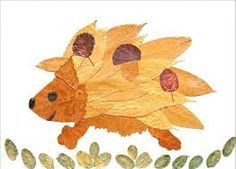 Are the leaves of the trees in front of your house starting to change color… Leaf Projects, Animal Art Projects, Autumn Nature, Autumn Art, Autumn Crafts, Nature Crafts, Arte Naturalista, Leaf Animals, Leaf Crafts
