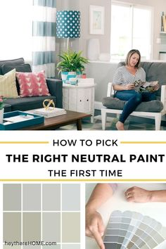 The Trick to Choosing the Right Neutral Paint 12 Perfect Neutral Paint Colors - the base for your whole home color palette is your neutral paint colors. Don't get stuck with the wrong one. Click through to learn this simple trick first! Neutral Paint Colors, Interior Paint Colors, Paint Colors For Home, House Colors, Home Improvement Projects, Home Projects, Home Decor Styles, Diy Home Decor, Blogger Home