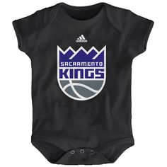 c3284ba6b Sacramento Kings adidas Newborn New Logo Bodysuit - Black