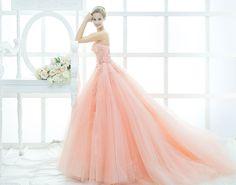 Coral peach ballgown evening gown Singapore