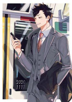 Kuroo Haikyuu, Kuroo Tetsurou, Haikyuu Fanart, Kenma, Haikyuu Anime, Handsome Anime Guys, Cute Anime Guys, Haikyuu Characters, Anime Characters