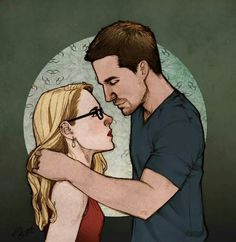 Olicity  Arrow  Felicity Smoak and Oliver Queen