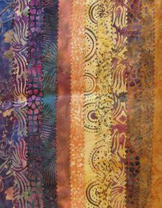Purple Gold Brown Variety Batik  12 Fat Quarter by TheKittyQuilter, $18.00