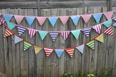 Made to order Outdoor waterproof bunting choose by MyWonderwallart Outdoor Bunting, Garden Bunting, Cubby Houses, Play Houses, Cubbies, Cleaning Wipes, Playroom, Projects To Try, Colours