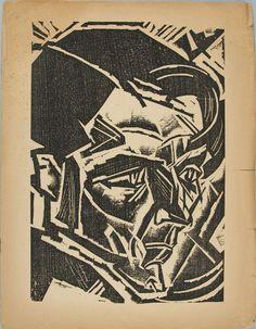 Fritz Schaefler, woodcut