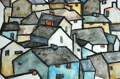 Landscapes inspired by Egon Schiele