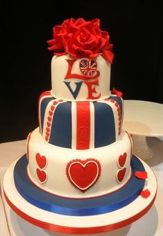 I wouldn't have this as a wedding cake, but love the Britishness of it all :) in smaller cupcakes I think it'd look good x