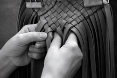 Bottega Veneta weave in action.