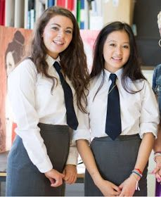 More British college girls wearing uniforms with very tight skirts: . Tight Pencil Skirt, Tight Skirts, Mini Skirts, School Uniform Outfits, Cute School Uniforms, British College, Women Wearing Ties, School Girl Dress, Women Ties