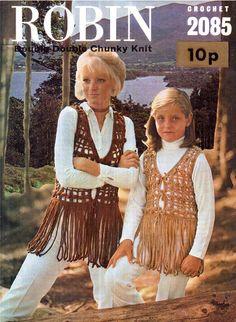 PDF Vintage 1970s Women Girl Ladies Waistcoat Gilet Crochet