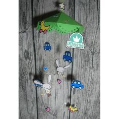"""Mobile für das Kinderzimmer aus der Plotterdatei """"Hasibub* von Céline Adekunle Design. Bottle Opener, Design, Projects For Kids, Binder, Amazing, Bottle Openers"""