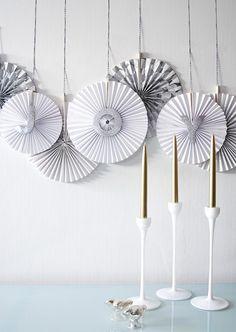 DIY Paper Fan Banner by lenora