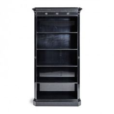 "Ralph Lauren Home Brook Street Bookcase tails • 32""w x 17""d x 88""h; 2 drawers"