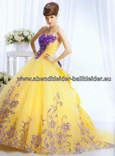 Gelbes Abendkleid Ballkleid Günstig Online