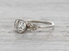 1.17 carat diamond vintage Edwardian engagement ring