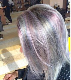 Multiple colorful layers (grey,Lila,light pink and blue  #Pravana)