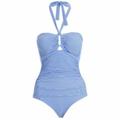 Separates Wide Link 1 Pc $210.00 Sapphire and white striped matte Italian lycra rectangle link 1pc, from our Summer Swim 13 collection, with...