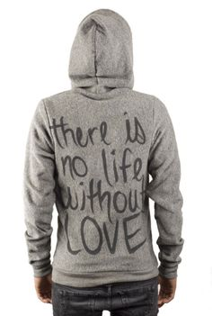 "sweatshirt with writing ""i am loved by my be.loved"" or something"