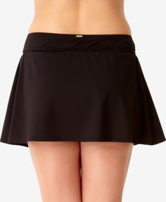 Anne Cole Plus Size Basic Swim Skirt - Black Swim Skirt, Swim Dress, Plus Size Swimwear, Clothing Styles, Size Clothing, Plus Size Outfits, Mini Skirts, Swimming, Young Adults