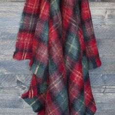 Tartan Mohair Knee Rug - Mohair Throws and Knee Rugs - Sofa Throws - LIVING