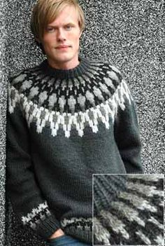 - Icelandic Grein (Branch) Mens Wool Sweater - Tailor Made - Nordic Store Icelandic Wool Sweaters - 1 Icelandic Sweaters, Wool Sweaters, Nordic Sweater, Men Sweater, Fair Isle Knitting, Hand Knitting, Knitting Designs, Wool Yarn, Knit Crochet