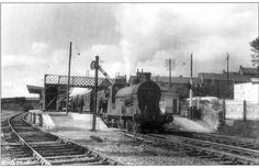 Slieve Donard leaving Dungannon Station August 1963 - Dungannon Steamers, Donegal, Belfast, Train Station, Northern Ireland, Historical Photos, Locomotive, Old Photos, Trains