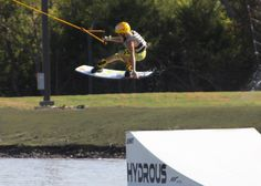 Hydrous Wakeboard Park in Allen, Texas - wakeboarding cable park!  Great workout and lots of fun!
