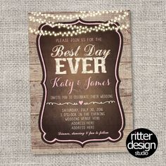Rustic I Do Barbecue BBQ Engagement Party Shower Invitation - Printable Digital File shower invitation printable chic girl vintage rustic Wedding Bridal i do bbq Barbecue engagement RitterDesignStudio USD Wedding Signs, Our Wedding, Party Wedding, Wedding Ideas, Wedding Reception, Wedding Table, Summer Wedding, Wedding Decor, Destination Wedding
