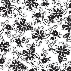 Gothic monochrome floral.