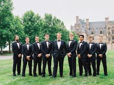 This English Garden-Inspired Wedding Is One for the Books | Featured on @brides | Planner: @avleventco | Photo: @perryvaile | Groomsmen Big Flower | Floral Design: @blossomatbp