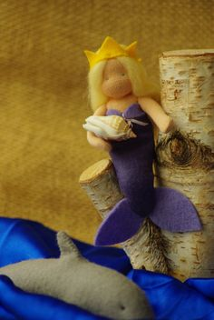 Mermaid Waldorf doll. Fairy tale character. by TaleWorld on Etsy