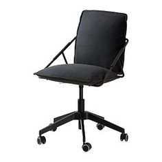 IKEA   VILLSTAD, Swivel Chair For My Home Office! The Black Against My  High Gloss White Desk Will Make A Beautiful Contrast!